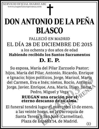Antonio de la Peña Blasco